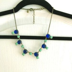 Like-NEW J.Crew Statement Blue & Green Necklace